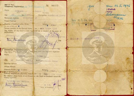 Teporary Registration - Flüchtlingsausweis.