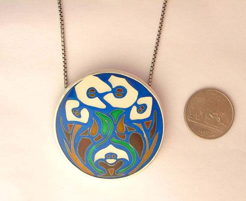 Custom lily pendant