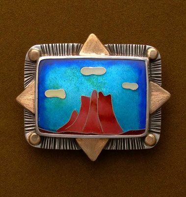 Cloisonne enamel Bell Rock, Sedona Arizona