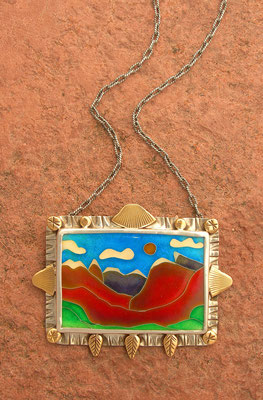 Cloisonne enamel Indian Peaks Wilderness