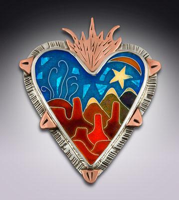 Cloisonne enamel Moab, Utah Sacred Heart