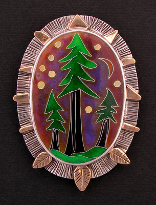 Cloisonne enamel Redwood Forest