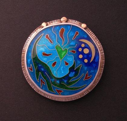 Cloisonne enamel Firecat Medallion