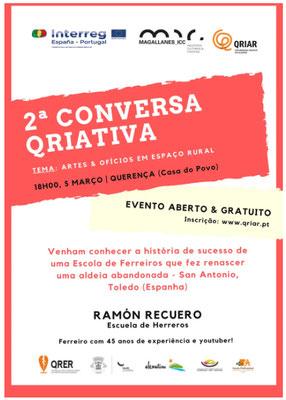 Ramón Recuero  2ª Conversa Qriativa, Querença  (Portugal)