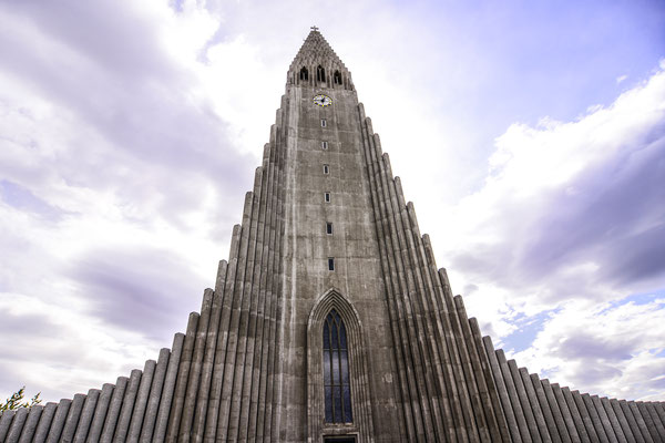 The famous church of Reykjavic