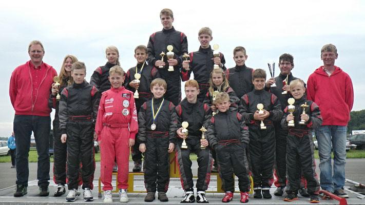 Alle Teilnehmer des MSC nach den Norddeutschen Meisterschaften 2015