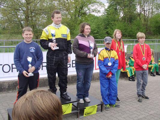 Klasse 3 Janica Schlüer (5.) und David Anderson (6., re.)