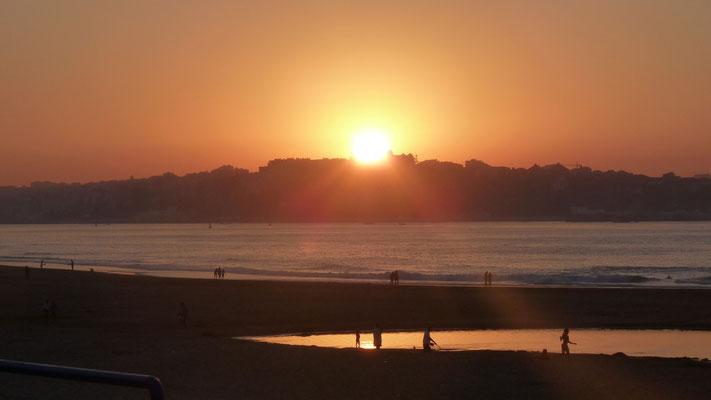Sonnenuntergang über Santander
