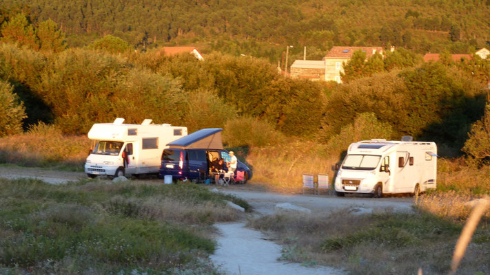 Stellpltz an der Playa de Carnota