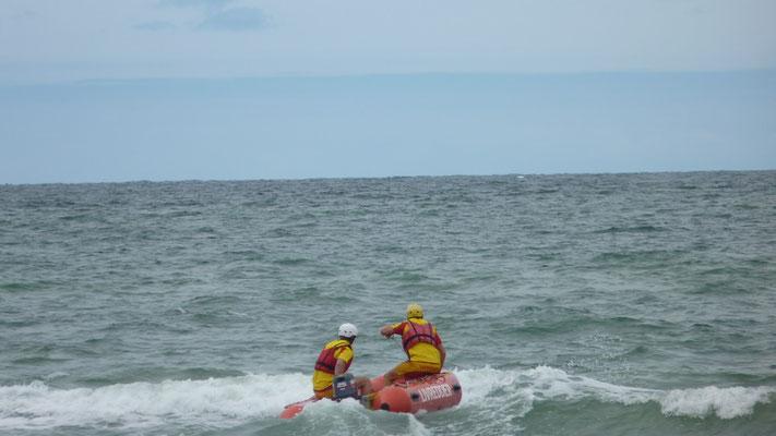 Übung eines Rettungseinsatz