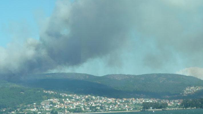 Waldbrände bei Pontesampaio