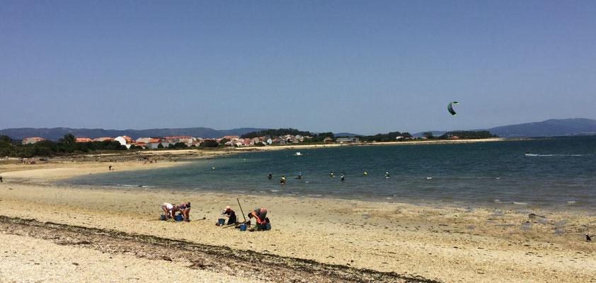 Kitesurfen bei der il de arousa