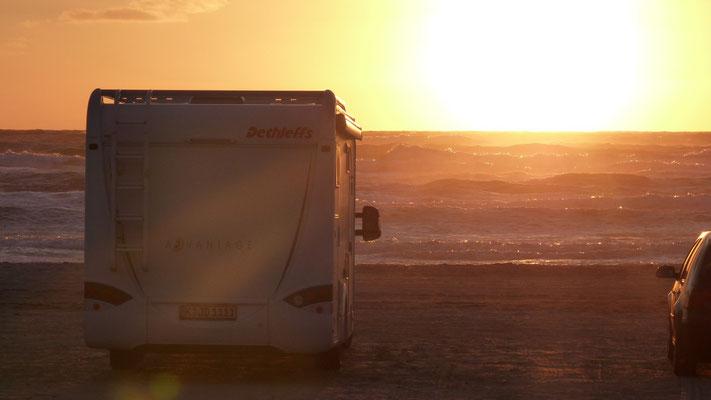 Sonnenuntergang am Blokhus Strand