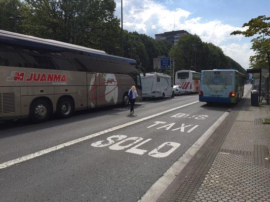 Parkplatz auch übernachtet in Donostia San Sebastian