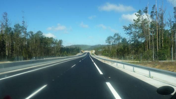 Schnellstraße Richtung Fisterra