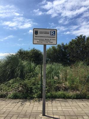 Stellplatz in Santander