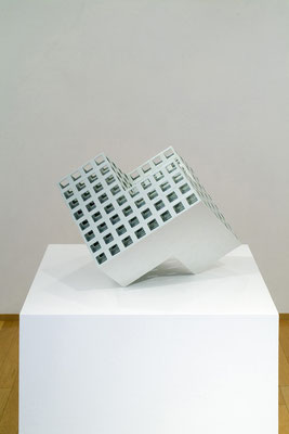 Lattice receptacle 06-A, 2006, Porcelain, h.40×w.50×d.57㎝