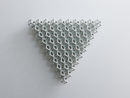 Lattice receptacle‐Crystllization 1, 2012, Porcelain, h.56×w.65×d.11㎝