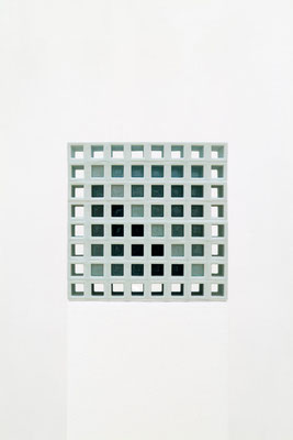 Lattice receptacle‐陰影の階調, 2005, Porcelain, h.35×w.35×d.35㎝