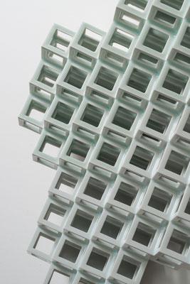 Lattice receptacle-Crystallization 2, 2014, Porcelain, h.57×w.44×d.11cm