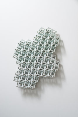 Lattice receptacle-Crystallization 2, 2014, Porcelain, h.57×w.44×d.11cm