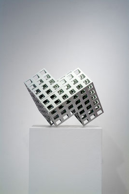 Lattice receptacle 06-1, 2006, Porcelain, h.30×w.37×d.47㎝