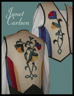 Vest with hand applique