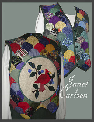Vest with hand applique