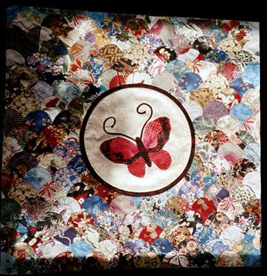 Butterfly wall quilt