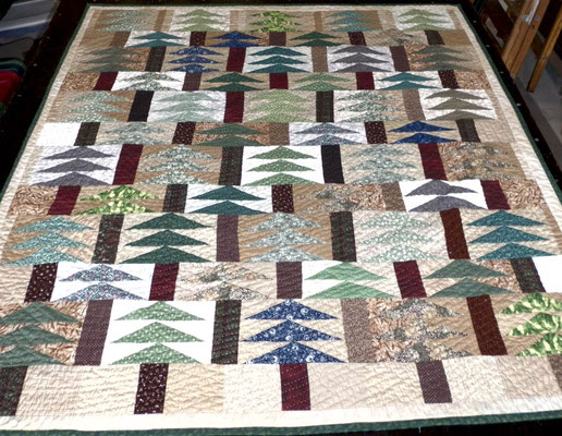 Forest quilt for Beau Mutz