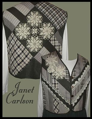Vest with vintage doilies