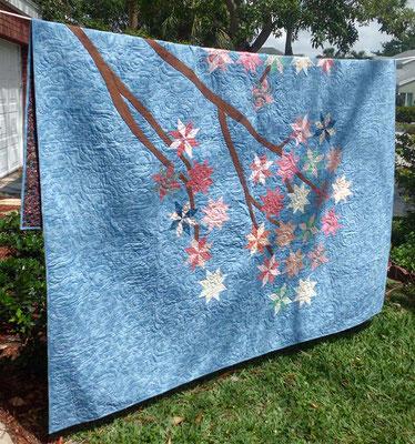 Cherry blossom quilt
