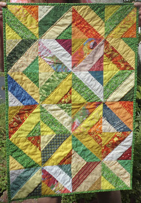 Scrap Quilt 2021 small wall quilt