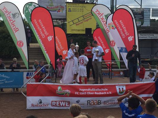 Siegerehrung der Kickers aus Offenbach