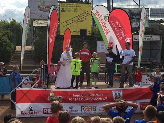 Siegerehrung der Kickers aus Stuttgart