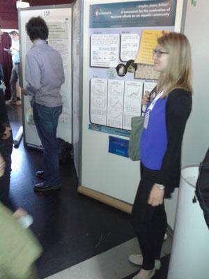 Verena presenting her poster.