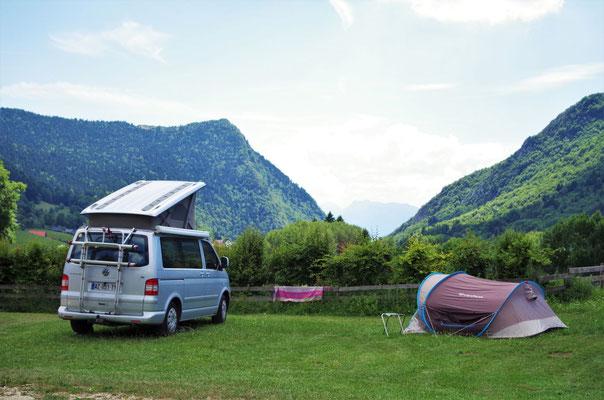 Vue ouverte au camping municipal la Virette, au Sappey en Chartreuse