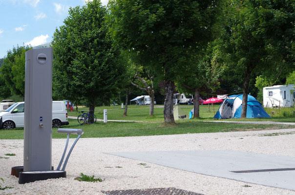 Borne de vidange camping la Virette au Sappey en Chartreuse