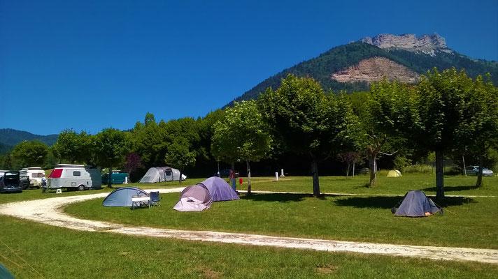 Chamechaude depuis le camping municipal du Sappey en Chartreuse