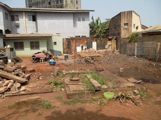 De keuken is gesloopt voor de bouw van de Dormitory.