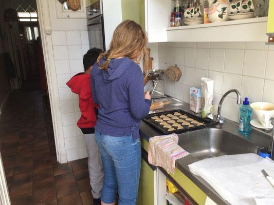 Hier worden de koekjes gemaakt.