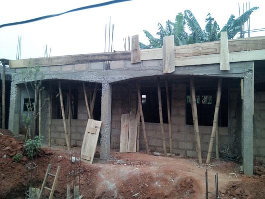 januari 2016: De keuken krijgt vorm.