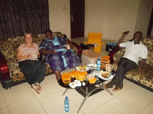 Eten met Sabine en Chris.
