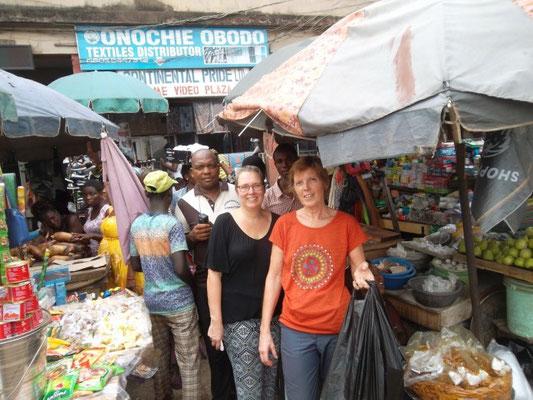 Bezoek aan de markt.