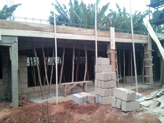 januari 2016: Naast de keuken komen nieuwe klaslokalen.