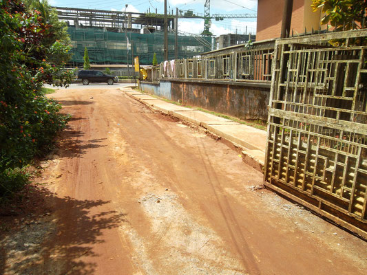2014: De drainage is aangesloten op het riool van de gemeente.