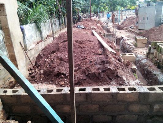 november 2015: De bouw van de nieuwe keuken is begonnen.