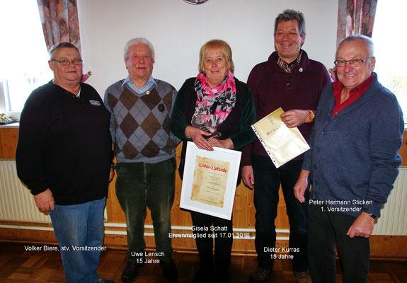 Gisela Schatt ist nun Ehrenmitglied