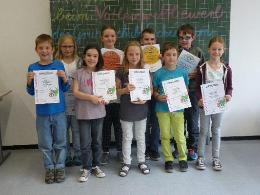 Herzlichen Glückwunsch! - Das sind die diesjährigen Gewinner des Lesewettbewerbs