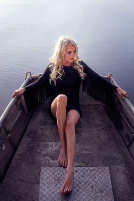 Boot, See, Model, outdoor, Fotoshooting, Fotograf, Karlsruhe, Gegenlicht,